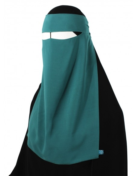 One Piece Niqab /w Nose String (Teal)