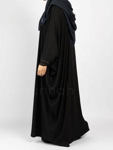 Sunnah Style - Plain Bisht Abaya (Black)
