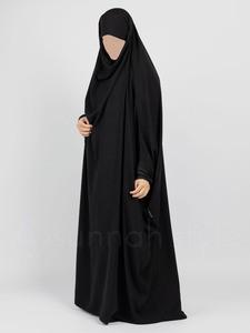 Sunnah Style - Plain Full Length Jilbab (Black)