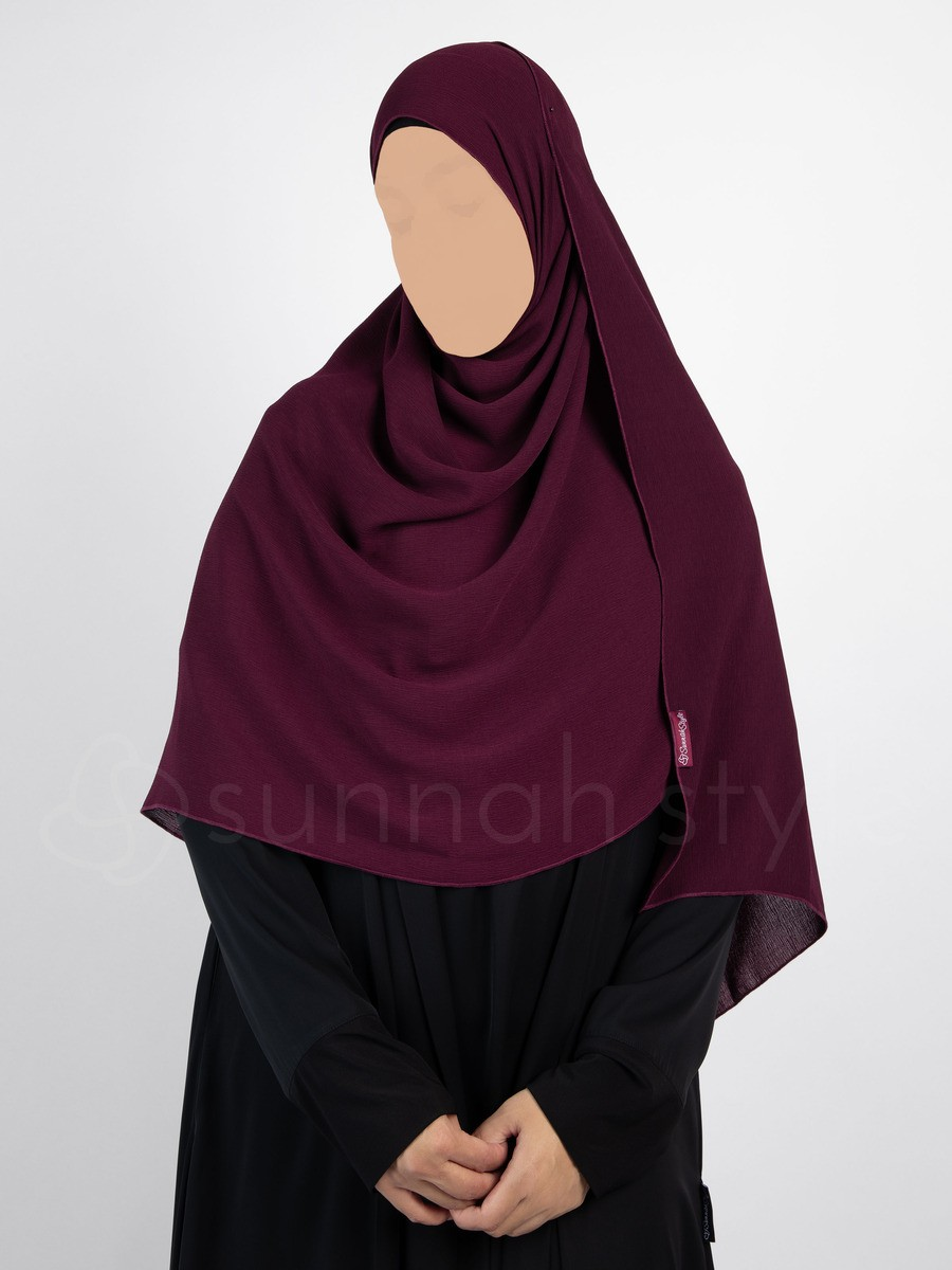 Sunnah Style - Brushed Shayla - Large (Burgundy)
