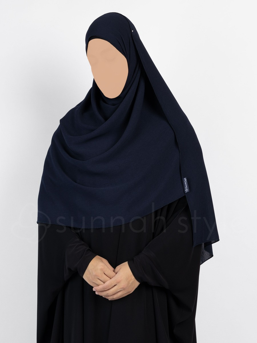 Sunnah Style - Brushed Shayla - Large (Navy Blue)