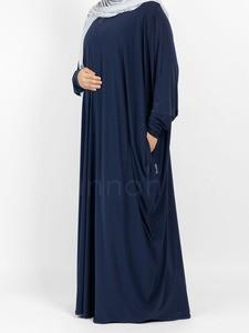 Sunnah Style - Jersey Bisht Abaya (Navy Blue)