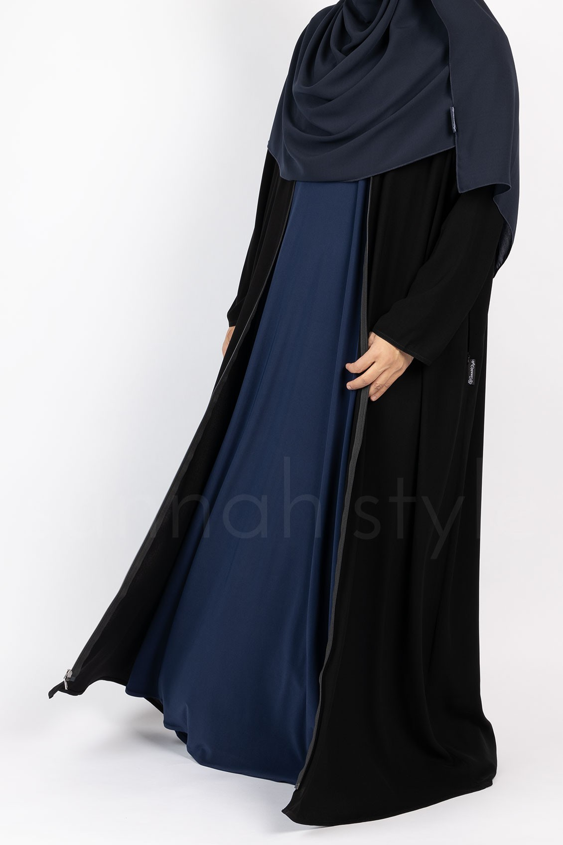 Sunnah Style Essentials Full Zip Abaya Black