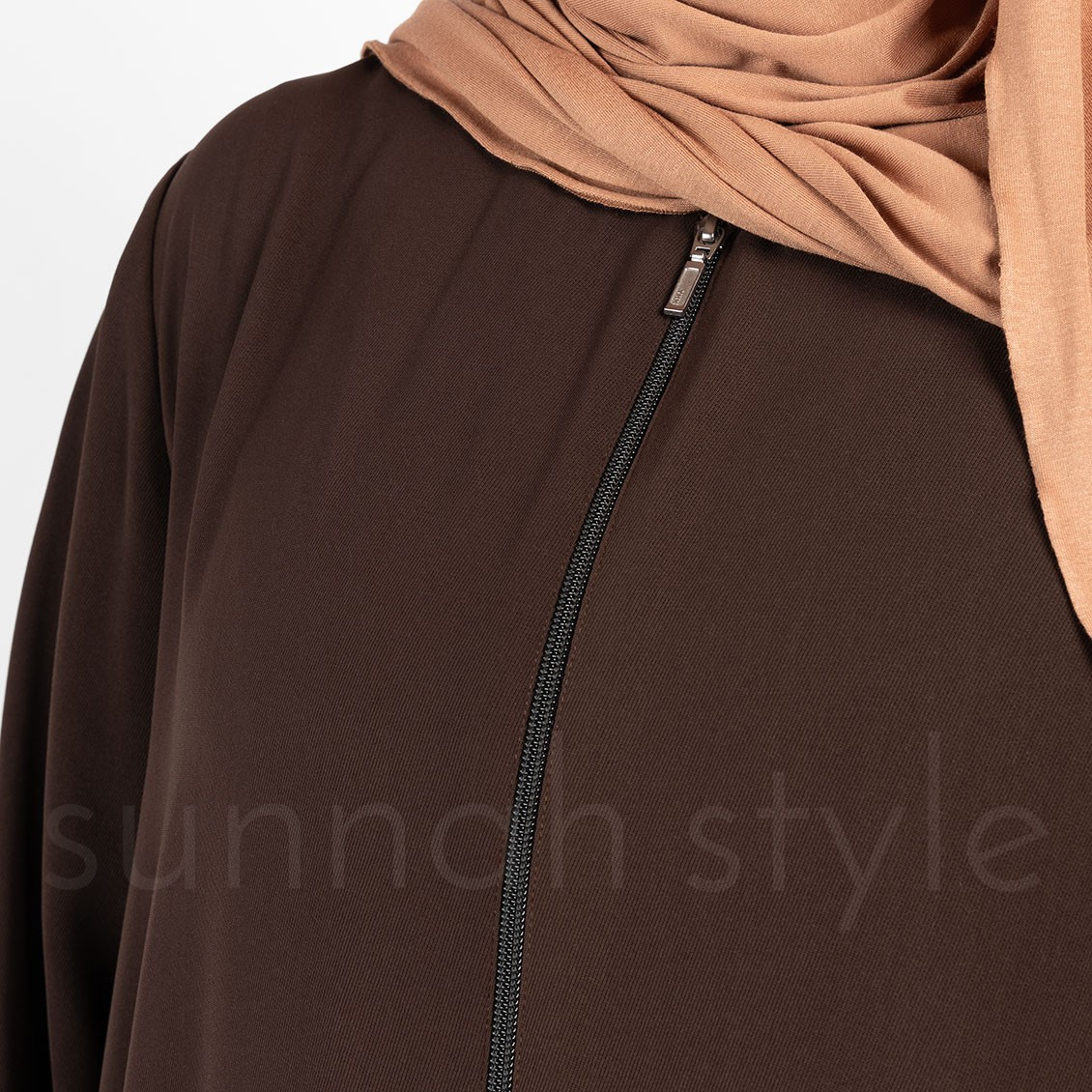 Sunnah Style Essentials Full Zip Abaya Espresso