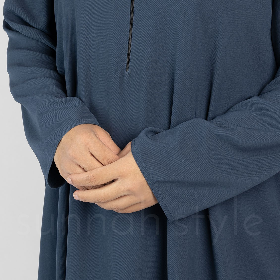 Essentials Closed Abaya (Steel Blue)