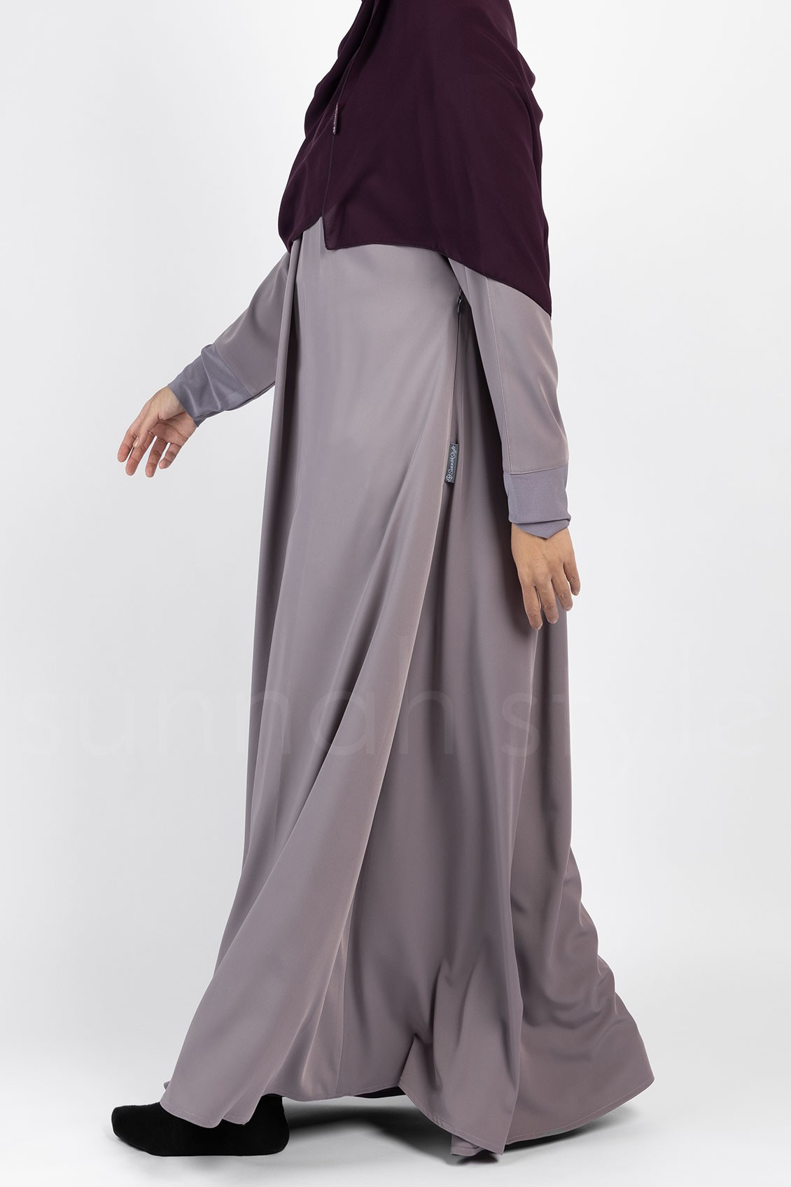 Simplicity Umbrella Abaya (Orchid Grey)