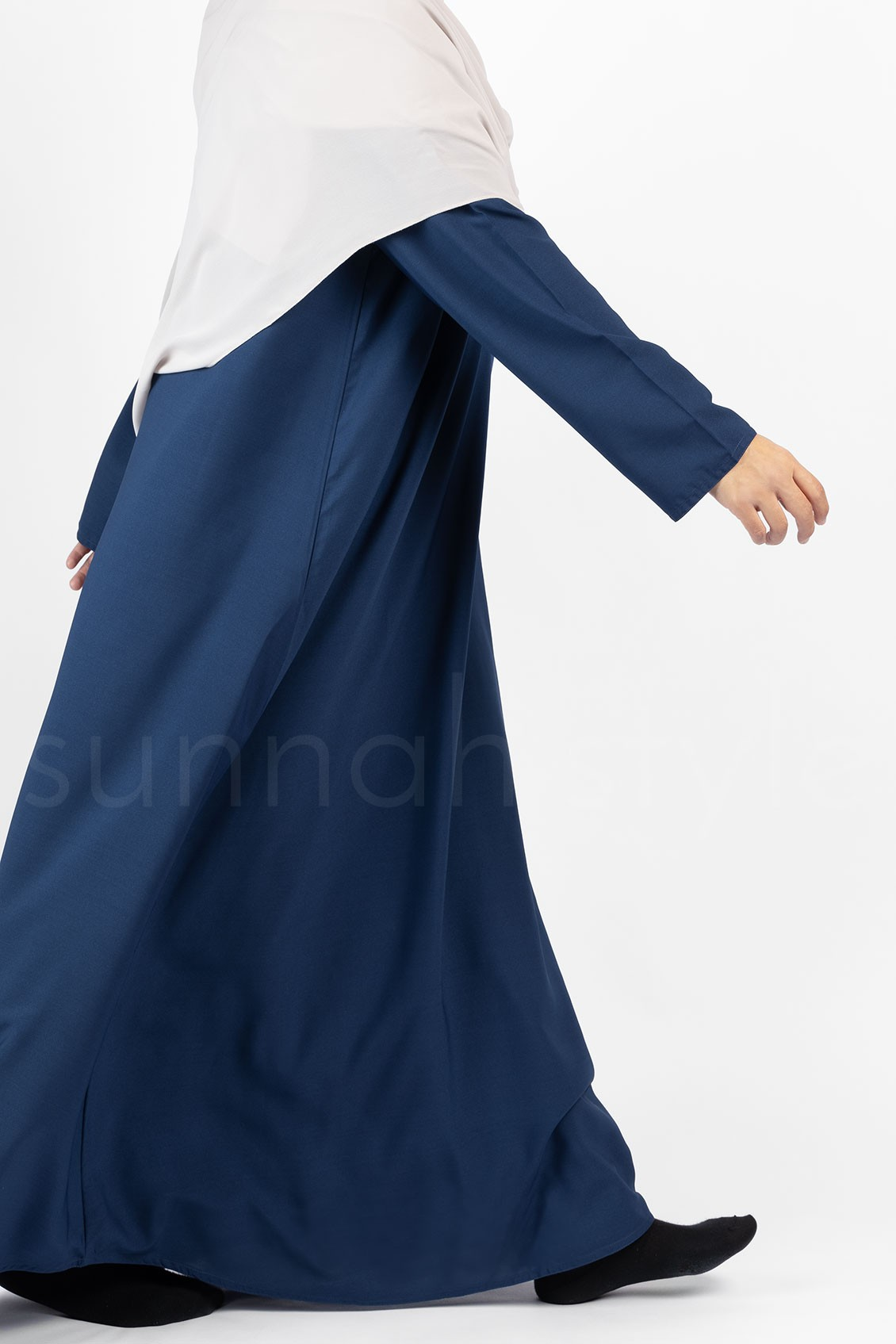 Sunnah Style Plain Closed Abaya Marine Blue