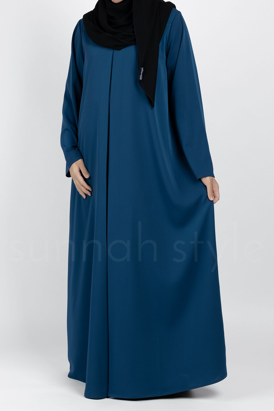 Flare Abaya (Pacific Blue)