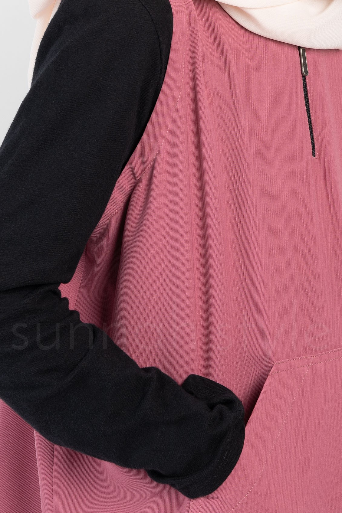 Sunnah Style Girls Essentials Sleeveless Abaya Desert Rose Pink