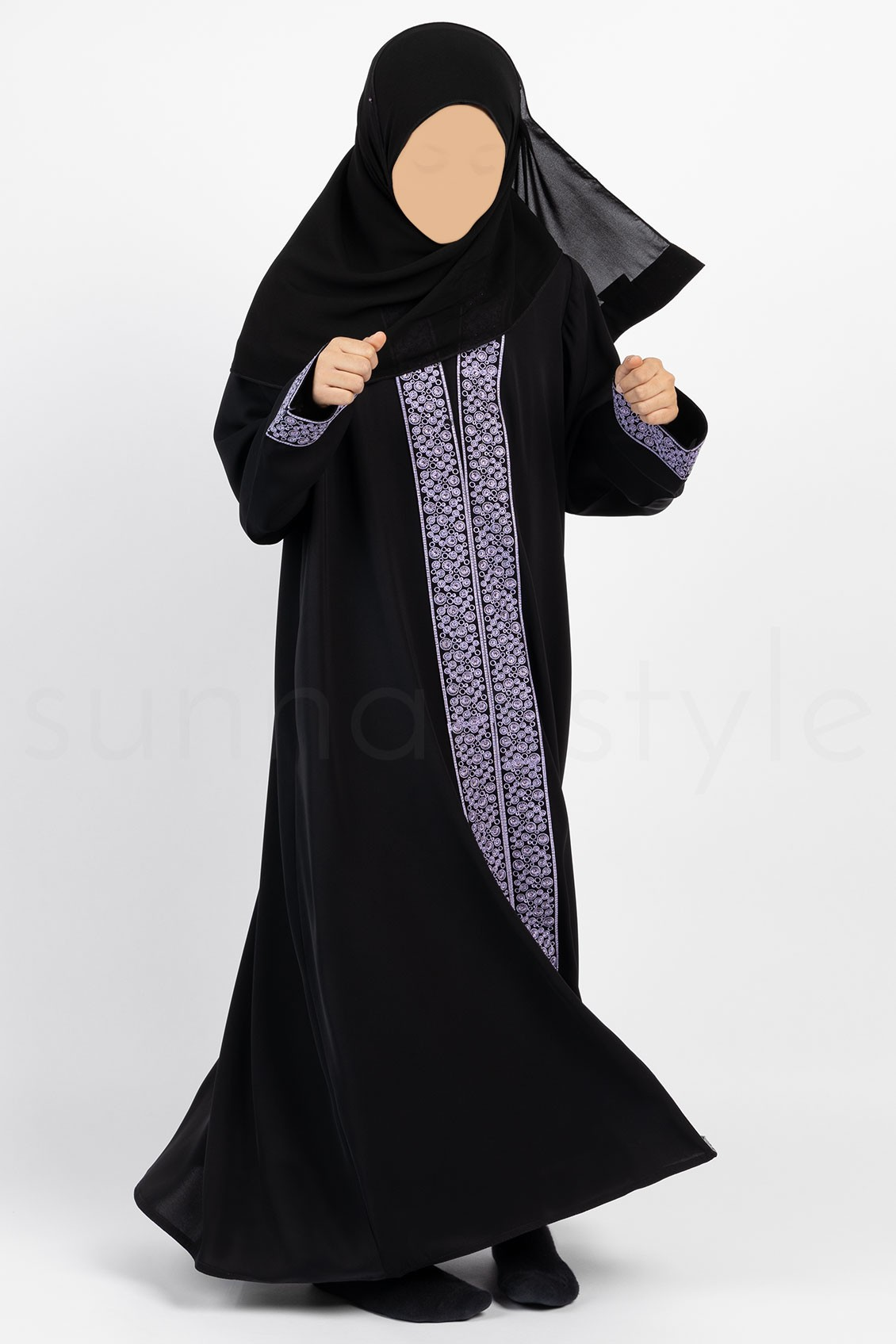 Sunnah Style Girls Glimmer Embroidered Abaya