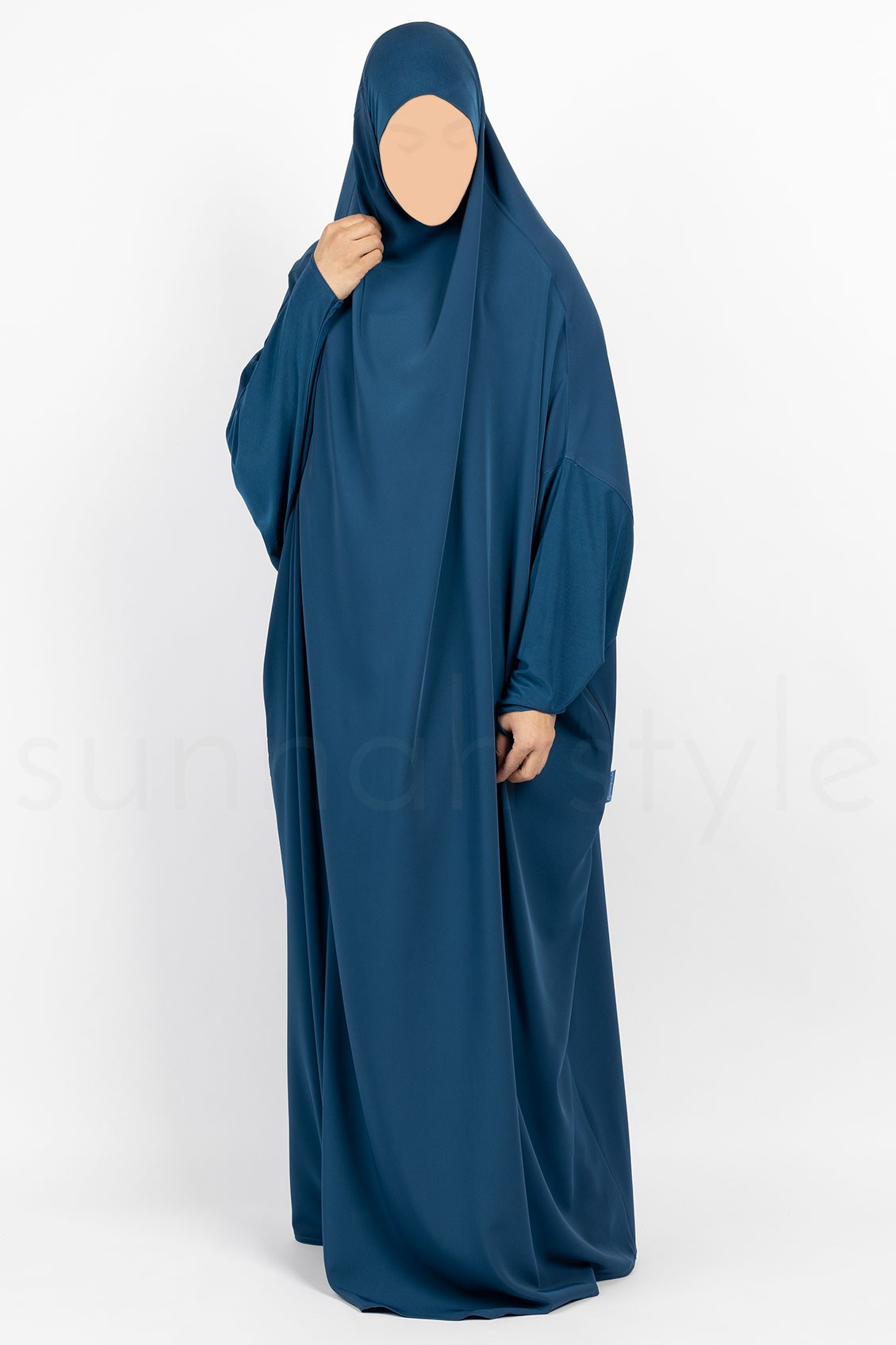 Sunnah Style Signature Full Length Jilbab Pacific Blue