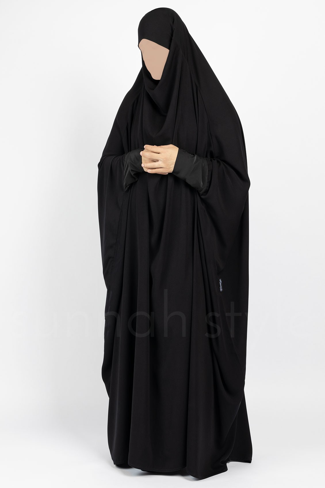 Plain Full Length Jilbab (Black)