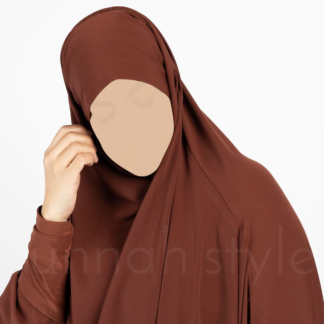 Sunnah Style Plain Full Length Jilbab Dark Amber
