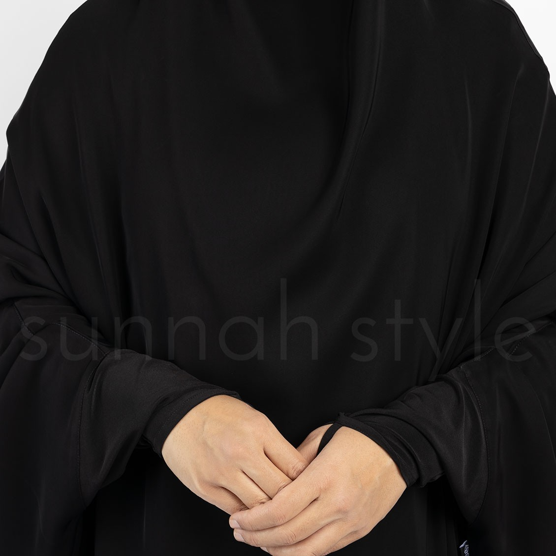 Bloom Two Tone Abaya (Black/Grey)