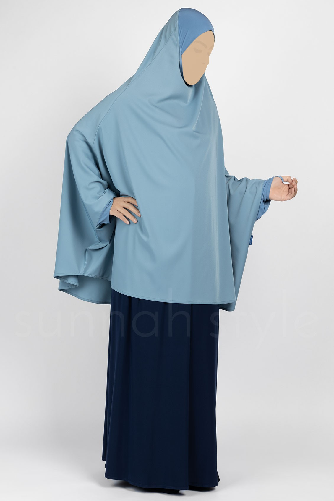 Signature Jilbab Top - Thigh Length (Powder)